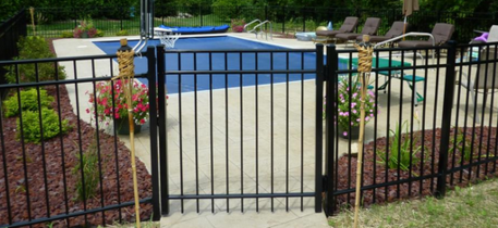 Fencing Wrought Iron Facility Security Swimming Pool