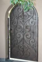 Ornamental Design Railing Block With Iron Work